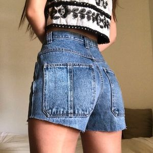 Vintage High Rise Denim Shorts